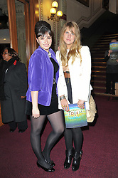 Left to right, Gizzi Erskine and Daisy Knights at the opening night of Totem by Cirque du Soleil held at The Royal Albert Hall, London on 5th January 2011.