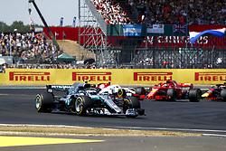 July 8, 2018 - Silverstone, Great Britain - Motorsports: FIA Formula One World Championship 2018, Grand Prix of Great Britain, ..Start, #77 Valtteri Bottas (FIN, Mercedes AMG Petronas Motorsport) (Credit Image: © Hoch Zwei via ZUMA Wire)