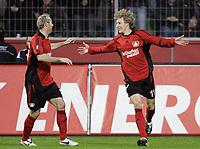 Fotball<br /> Tyskland<br /> Foto: Witters/Digitalsport<br /> NORWAY ONLY<br /> <br /> 21.02.2008<br /> <br /> Jubel 2:0 v.l. Sergej Barbarez, Stefan Kiessling Bayer<br /> UEFA-Cup Bayer 04 Leverkusen - Galatasaray Istanbul