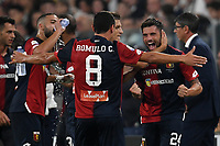 Daniel Bessa of Genoa celebrates with team mate Romulo  after scoring a goal during the Serie A 2018/2019 football match between Juventus and Genoa CFC at Allianz Stadium, Turin, October, 20, 2018 <br />  Foto Andrea Staccioli / Insidefoto