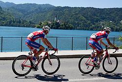 KUMP Marko of KK Adria Mobil and PAVLIN Simon of KK Adria Mobil during 3rd Stage (219 km) at 19th Tour de Slovenie 2012, on June 16, 2012, in Skofja Loka, Slovenia. (Photo by Matic Klansek Velej / Sportida.com)