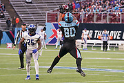 Dallas Renegades tight end Sean Price (80) makes a reception in front of St. Louis Battlehawks safety Will Hill (25)during a XFL professional football game, Saturday, February 9, 2020, at Globe Life Park, Arlington Texas. he  Battlehawks defeated the Renegades 15-9. (Wayne Gooden/Image of Sport)