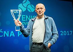 Matjaz Plejic during Slovenian Tennis personality of the year 2017 annual awards presented by Slovene Tennis Association Tenis Slovenija, on November 29, 2017 in Siti Teater, Ljubljana, Slovenia. Photo by Vid Ponikvar / Sportida