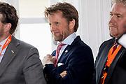 Koning Willem Alexander en koningin Maxima maken een vaartocht door de haven van Cork en hebben een Bijeenkomst maritieme infrastructuur en havenontwikkeling tijdens de derde dag van het staatsbezoek aan Ierland. <br /> <br /> King Willem Alexander and Queen Maxima make a boat trip through Cork harbor on the third day of the state visit to Ireland.