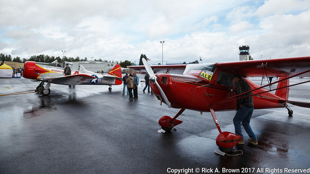 Cessna 120 and AT-6 at Warbirds Over the West.