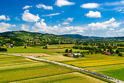 Peleton and overview of the Bizeljsko during 3rd Stage of 27th Tour of Slovenia 2021 cycling race between Brezice and Krsko (165,8 km), on June 11, 2021 in Slovenia. Photo by Matic Klansek Velej / Sportida