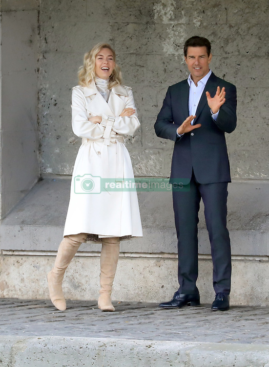 """Rehearsal for a scene from the next episode of """"Mission Impossible 6"""" at the Quai des Grands-Augustins in Paris on May 2, 2017.<br /><br />2 May 2017.<br /><br />Please byline: Vantagenews.com"""