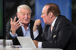 © Licensed to London News Pictures . 06/10/2014 . Glasgow , UK . PADDY ASHDOWN being interviewed by Andrew Neil for the Daily Politics . The Liberal Democrat Party Conference 2014 at the Scottish Exhibition and Conference Centre in Glasgow . Photo credit : Joel Goodman/LNP