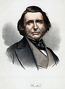 John Ruskin (1819-1900) British author and art critic. Tinted lithograph published London c1880
