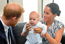 Prince Harry, Duke of Sussex, Meghan Markle, Duchess of Sussex, and their baby son Archie meet Archbishop Desmond Tutu at the Desmond. 25 Sep 2019 Pictured: Prince Harry, Duke of Sussex, Meghan Markle, Duchess of Sussex, and their baby son Archie meet Archbishop Desmond Tutu at the Desmond. Photo credit: James Whatling / MEGA TheMegaAgency.com +1 888 505 6342
