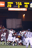22 August 2007: Overview of action during USC Trojans NCAA Pac-10 college football team fall intrasquad scrimmage at the LA Memorial Coliseum on Wednesday night infront of 18,000 fans who attended for free.