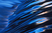 Water patterns and movement, Zion National Park, Utah, blue colours, speed