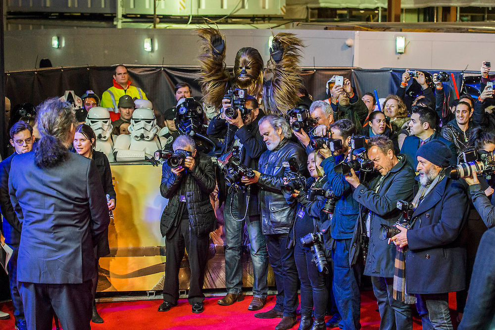 Peter Mayhew  -  The European Premiere of STAR WARS: THE FORCE AWAKENS - Odeon, Empire and Vue Cinemas, Leicester Square, London.
