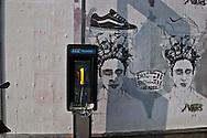 New York. street art, lower east side Houston street  New York - United States  / art des rues, dessins, affiches,lower east side houston street  New York - Etats unis