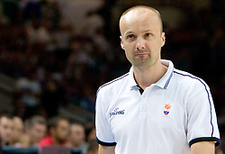 Head coach of Slovenia Jure Zdovc during the basketball match at Preliminary Round of Eurobasket 2009 in Group C between Slovenia and Spain, on September 09, 2009 in Arena Torwar, Warsaw, Poland.  (Photo by Vid Ponikvar / Sportida)