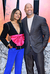 Dwayne The Rock Johnson and Naomie Harris attending the European premiere of Rampage, held at the Cineworld in Leicester Square, London. Photo credit should read: Doug Peters/EMPICS Entertainment