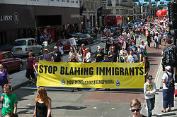 Marchers on the People's Assembly demonstration against Austerity, London, 21st June 2014