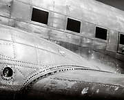 Fuselage detail of a DC-3, at the Griffin, Georgia airfield.  Summer 2001.