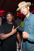 Bridgehampton, New York, NY-July 15: (L-R) Recording Artist Chuck D (Honoree) and DJ Rich Medina attend The 2017 RUSH Philanthropic's  Art For Life held at Fairview Farms on July 15, 2017 in Bridgehampton, New York. (Photo by Terrence Jennings/terrencejennings.com)