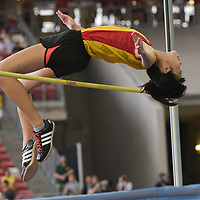 Tham Mei Shuen (#268) of Hwa Chong Institution, cleared 1.54m on her first attempt but had an earlier failed attempt at lower height, which resulted in her winning fourth. (Photo © Stefanus Ian/Red Sports)