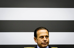 """March 28, 2019 - SãO Paulo, Brazil - SÃO PAULO, SP - 28.03.2019: HOMENAGEM AOS HERÃ""""IS DA ESCOLA SUZANO - The Governor of the state of São Paulo, João Doria delivered on Thursday (28), at the headquarters of the Government Palace, the MMDC Medal? Caetano de Campos, from the State Department of Education, to the school community and institutions that stood out during the episode at the State Raul Brasil State School in Suzano, for their relevant actions in confronting, protecting, aiding and abetting victims and their relatives. Among the honorees are students, lunch boxes, teachers, deputy directors, police officers and health professionals. (Credit Image: © Aloisio Mauricio/Fotoarena via ZUMA Press)"""