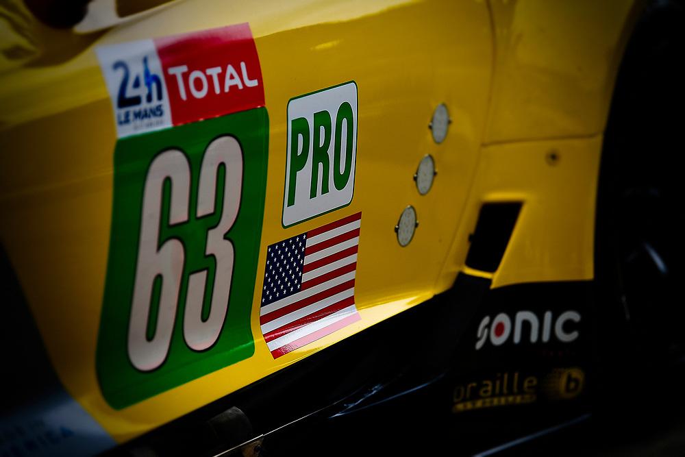 #63 Corvette Racing Chevrolet Corvette C7.R: Jan Magnussen, Antonio Garcia, Mike Rockenfeller<br /> Tuesday 12 June 2018<br /> 24 Hours of Le Mans<br /> Verizon IndyCar Series<br /> Circuit de la Sarthe  FR<br /> World Copyright: Scott R LePage<br /> LAT Images