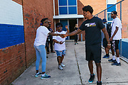 Huddle For 100 around downtown Baltimore on September 23, 2019. Lamar Jackson and Willie Snead IV at Webster Kendrick Boys & Girls Club. Chris Moore at St. Vincent De Paul Society. Our Daily Bread with Mark Ingram and Marshal Yanda. Maryland Center for Veterans with Brandon Williams and Chris Wormley.