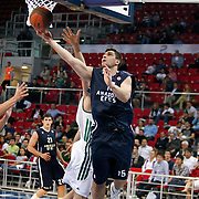 Anadolu Efes's Estaban BATISTA (R) during their Two Nations Cup basketball match Anadolu Efes between Panathinaikos at Abdi Ipekci Arena in Istanbul Turkey on Saturday 01 October 2011. Photo by TURKPIX