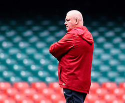 Head Coach Warren Gatland of Wales<br /> <br /> Photographer Simon King/Replay Images<br /> <br /> Six Nations Round 3 - Captains Run - Wales v England - Saturday 22nd February 2019 - Principality Stadium - Cardiff<br /> <br /> World Copyright © Replay Images . All rights reserved. info@replayimages.co.uk - http://replayimages.co.uk