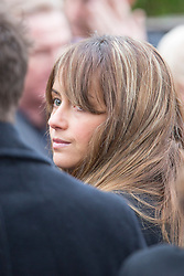 © Licensed to London News Pictures. 03/11/2015. Manchester, UK. Coronation street actress Sami Ghadie at The funeral of Kirsty Howard who was given just weeks to live at the age of four has taken place in Manchester today. Kirsty Howard was one of only two people in the world born with a back-to-front heart. She died on 24 October having spent years raising millions of pounds for Francis House children's hospice in Manchester. Photo credit: Andrew McCaren/LNP