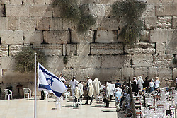 A view of the western wall, also known as the wailing wall, in the old city of Jerusalem. From a series of photos commissioned by  British NGO, Medical Aid for Palestinians (MAP).