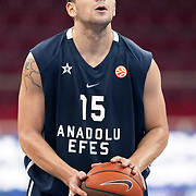 Anadolu Efes's Estaban BATISTA during their Two Nations Cup basketball match Anadolu Efes between Panathinaikos at Abdi Ipekci Arena in Istanbul Turkey on Saturday 01 October 2011. Photo by TURKPIX