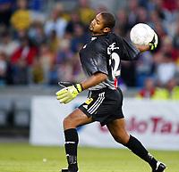 Fotball, 2. september 2002, Tippeligaen, Vålerenga - Lillestrøm 1-1. Emille Baron, Lillestrøm.
