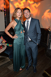 ARIZONA MUSE and BONIFACE VERNEY-CARRON at the Fashion Targets Breast Cancer 20th Anniversary Party held at 100 Wardour Street, Soho, London on 12th April 2016.