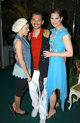 Left to right, SIENNA MILLER, MATTHEW WILLIAMSON and BROOKE SHIELDS at a party to celebrate the launch of the new Matthew Williamson fragrance held at Harvey Nichols, Knightsbridge, London on 14th June 2005.<br /><br />NON EXCLUSIVE - WORLD RIGHTS