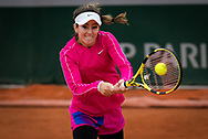 Catherine Bellis of the United States in action during the first round at the Roland Garros 2020, Grand Slam tennis tournament, on September 28, 2020 at Roland Garros stadium in Paris, France - Photo Rob Prange / Spain ProSportsImages / DPPI / ProSportsImages / DPPI