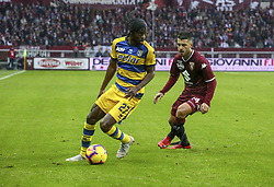 November 10, 2018 - Turin, Piedmont, Italy - Gervinho (Parma Calcio 1913) and Iago Falque (Torino FC) during the Serie A football match between Torino FC and Parma Calcio 1913 at Olympic Grande Torino Stadium on November 10, 2018 in Turin, Italy..Torino FC lost 1-2 over Parma. (Credit Image: © Massimiliano Ferraro/NurPhoto via ZUMA Press)