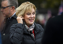 © Licensed to London News Pictures. 21/10/2019. London, UK. MP ANNA SOUBRY is seen talking to media in Westminster, London. Last week Parliament sat on a Saturday for the first time since 1982, but failed to vote on Boris Johnson's new Brexit deal. Photo credit: Ben Cawthra/LNP