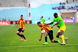 May 12, 2017 - Rades, Tunisia - Mejri Bilal(L) of  (EST) and Sugira Ernest of the Vita club during the First day of the group stage of the Champions League  2017 Total  between Esperance Sportive de Tunis (EST) and the formation of AS Vita Club (RD Congo) at the Rades stadium..The Esperance Sportive de Tunis (EST) won by 3/1. (Credit Image: © Chokri Mahjoub via ZUMA Wire)