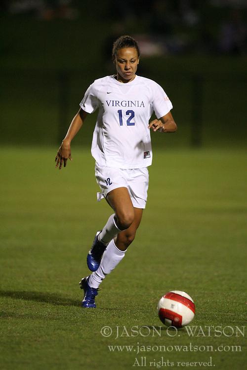 Virginia Cavaliers F Jess Rostedt (12)..The Virginia Cavaliers Women's Soccer Team fell the University of North Carolina Tar Heels 2-0 on October 5, 2006 at Klöckner Stadium in Charlottesville, VA...