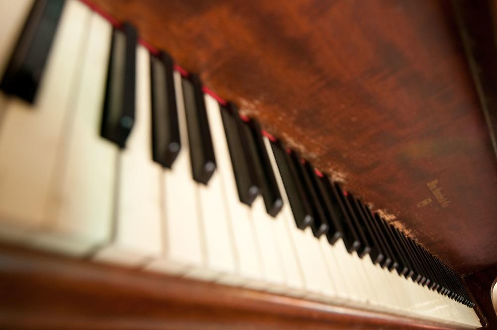 stock photo of piano keys, abstract