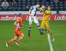 Darragh Lenihan of Blackburn Rovers (C) heads at goal - Mandatory by-line: Jack Phillips/JMP - 28/01/2017 - FOOTBALL - Ewood Park - Blackburn, England - Blackburn Rovers v Blackpool - FA Cup Fourth Round