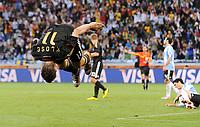 Fotball<br /> VM 2010<br /> Tyskland v Argentina<br /> 03.07.2010<br /> Foto: Witters/Digitalsport<br /> NORWAY ONLY<br /> <br /> 4:0 Torjubel Salto Miroslav Klose (Deutschland)<br /> Fussball WM 2010 in Suedafrika, Viertelfinale Argentinien - Deutschland