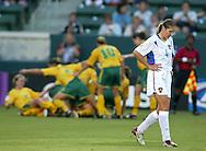 Marina Saenko, looks down after Australia scores a goal in the first half, 2003 WWC Australia vs. Russia.