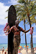 Statue of Duke Kahanamoku on Waikiki Beach, Hawai'i