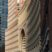 Front facade of the Boston Harbor Hotel, Boston, Massachusetts