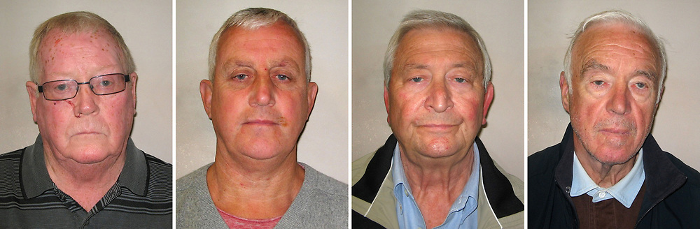 BEST QUALITY AVAILABLE Undated Metropolitan Police handout photos of (left - right) John Collins, 74, Daniel Jones, 58, Terry Perkins, 67, and Brian Reader who have all admitted their role in plotting the Hatton Garden Easter raid which saw valuables worth more than £10 million stolen. Carl Wood, William Lincoln and Hugh Doyle have been convicted today at Woolwich Crown Court of involvement in the Hatton Garden raid, believed to the largest burglary in British legal history in which jewellery and valuables worth an estimated £14 million were stolen.