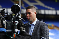 Local boxer and Everton fan Tony Bellew is interviewed prior to kick off. The Emirates FA cup, 3rd round match, Everton v Dagenham & Redbridge at Goodison Park in Liverpool on Saturday 9th January 2016.<br /> pic by Chris Stading, Andrew Orchard sports photography.