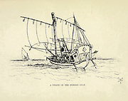 Sketch of A Pirate of the Persian Gulf from the book ' Pen and pencil sketches of shipping and craft all round the world ' by Pritchett, Robert Taylor Published in London in 1899