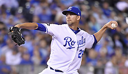 August 22, 2017 - Kansas City, MO, USA - Kansas City Royals relief pitcher Mike Minor throws in the seventh inning against the Colorado Rockies at Kauffman Stadium in Kansas City, Mo., on Tuesday, Aug. 22. 2017. (Credit Image: © John Sleezer/TNS via ZUMA Wire)